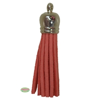 50mm Coral Leather Look Tassel