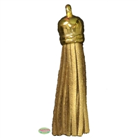 50mm Gold Leather Look Tassel