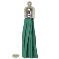 50mm Green Leather Look Tassel
