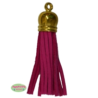 50mm Hot Pink Leather Look Tassel