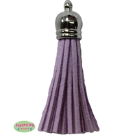 50mm Lavender Leather Look Tassel