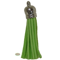 50mm Lime Leather Look Tassel