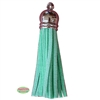 50mm Mint Leather Look Tassel