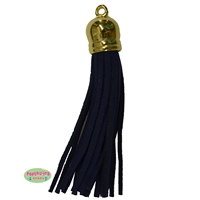 50mm Navy Blue Leather Look Tassel