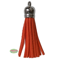 50mm Orange Leather Look Tassel