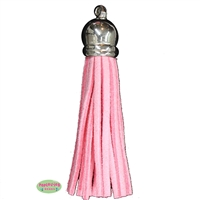 50mm Pink Leather Look Tassel