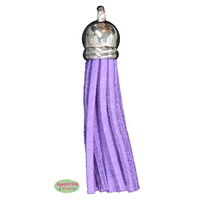 50mm Purple Leather Look Tassel
