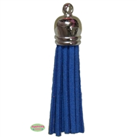 50mm Royal Blue Leather Look Tassel