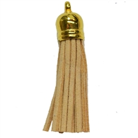 50mm Tan Leather Look Tassel