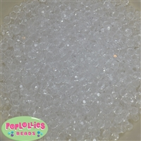 6mm Clear Facet Acrylic Spacer Beads