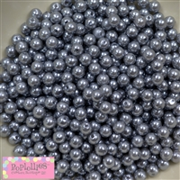 6mm Matte Silver Pearl Spacer Beads