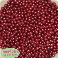 6mm Burgundy Pearl Spacer Beads