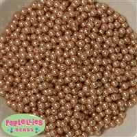6mm Champagne Pearl Spacer Beads