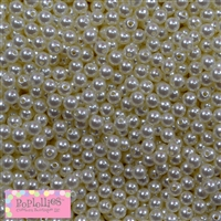 6mm Faux Pearl Spacer Beads Bulk