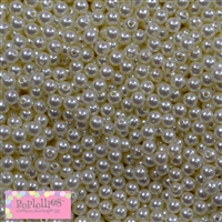 Cream Pearl Spacer Beads 6mm