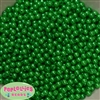 6mm Christmas Green Pearl Spacer Beads