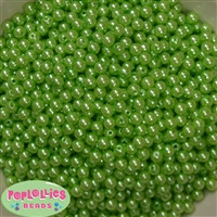 Lime Pearl Spacer Beads 6mm