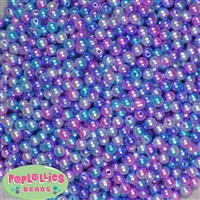 6mm Jewel Ombre Pearl Spacer Beads