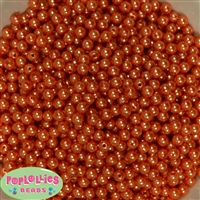 Orange Pearl Spacer Beads 6mm