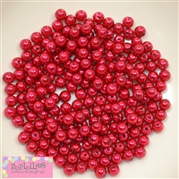 6mm Red Pearl Spacer Beads