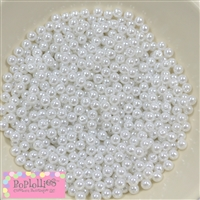 6mm White Faux Pearl Spacer Beads Bulk