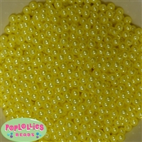 Yellow Pearl Spacer Beads 6mm