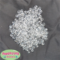 6mm Clear Round Acrylic Spacer Beads
