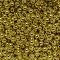 6mm Gold Color Spacer Beads 200 pc