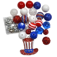 Uncle Sam Patriotic Necklace DIY Kit