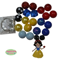 Snow White Enamel Pendant Necklace DIY Kit