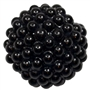 20mm Black Berry Acrylic Bubblegum Beads