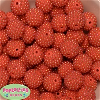 20mm Orange Berry Acrylic Bubblegum Beads