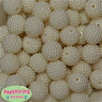 20mm Cream Berry Acrylic Bubblegum Beads
