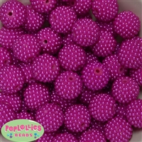 20mm Hot Pink Berry Acrylic Bubblegum Beads