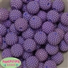 20mm Lavender Berry Acrylic Bubblegum Beads