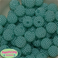 20mm Light Blue Berry Beads