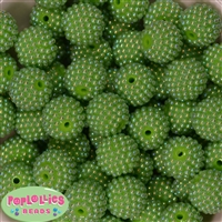 20mm Lime Green Berry Beads