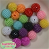20mm Mixed Color Berry Acrylic Bubblegum Beads