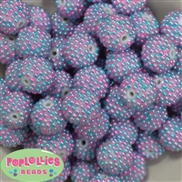20mm Ombre Berry Acrylic Bubblegum Beads
