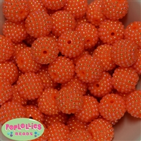 20mm Orange Berry Beads