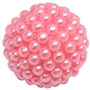 20mm Pink Berry Acrylic Bubblegum Beads