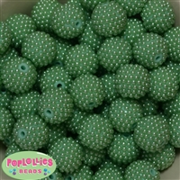 20mm Pastel Green Berry Beads