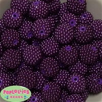 20mm Purple Berry Acrylic Bubblegum Beads