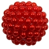 20mm Red Berry Acrylic Bubblegum Beads