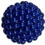 20mm Blue Berry Acrylic Bubblegum Beads