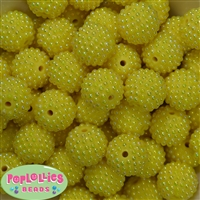20mm Yellow Berry Beads