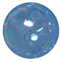 20mm Baby Blue Shiny AB Bubble Style Acrylic Gumball Bead