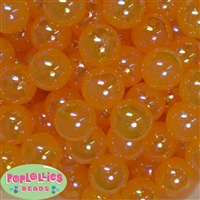 20mm Gold Shiny AB Bubble Style Acrylic Gumball Bead