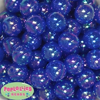 20mm Royal Blue Shiny AB Bubble Style Acrylic Gumball Bead