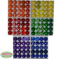 Bulk Mix of Rainbow Bright Theme Bubblegum Beads